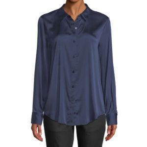 Eileen Fisher Silk long sleeve button down blouse